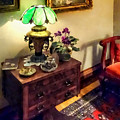 Cozy Parlor With Flower Petal Lamp by Susan Savad