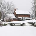 Cozy Snow Cabin by J K York