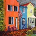 Cozy Street by Art Nomad Sandra  Hansen