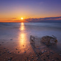 Crab Trap Sunset Le by Michael Ver Sprill