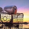 Crab Trapped - Sunrise Sunset Photo Art by Jo Ann Tomaselli