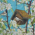 Crabapple Chickadees by DParins Zich