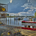Crabpots And Fishing Boats by Williams-Cairns Photography LLC