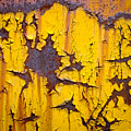 Cracked Yellow Paint Over Rust by Chris Bordeleau