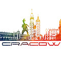 Cracow City Skyline Color by Justyna JBJart