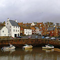 Crail Harbour Fife by Veron Miller
