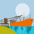 Crane Loading A Ship by Aloysius Patrimonio