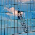 Crane Reflection - Atlantic City by Arlane Crump