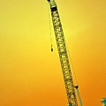 Crane With Towers by Michelle Calkins