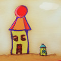 Cranky Clown Cabana And Fire Hydrant by Teresa Epps