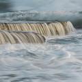 Crashing Sea Waves And Small Waterfalls by Michalakis Ppalis