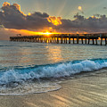 Crashing Waves At Sunrise by Debra and Dave Vanderlaan