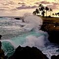Crashing Waves At Sunset by Craig Wood
