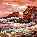 Crashing Waves At Sunset  Majestic Seascape by Carole Spandau
