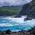 Crashing Waves - Nakalele Point  by New Heights Aerial Photography