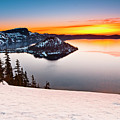 Crater Lake Dawn by Greg Nyquist