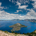 Crater Lake From Watchman Overlook by Greg Nyquist