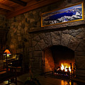 Crater Lake Lodge Fireside Relaxation by Scott McGuire