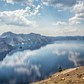 Crater Lake With A View Of The Phantom Ship by Belinda Greb