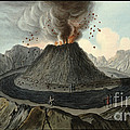 Crater Of Mount Vesuvius, Before 1767 by Wellcome Images