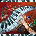 Crazy Fingers- Piano Keyboard - Bordered by Sue Duda