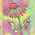 Crazy Flower With Funky Leaves by Susan Campbell