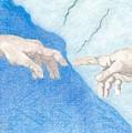 The Creation Hands Sistine Chapel Michelangelo by Bernardo Capicotto