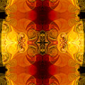 Creative Fire And Flames Abstract Organic Art By Omaste Witkowsk by Omaste Witkowski