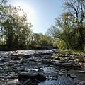 Creek And Bridge by Joy Leninsky