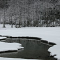 Creek In Snowy Landscape by Christiane Schulze Art And Photography