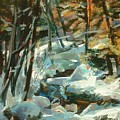 Creek In The Cold by Claire Gagnon