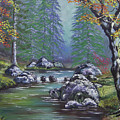 Creek In The Woods by Cathy Shepard