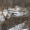 Creek Winding Through The Snow by Cliff Ball