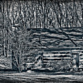 Creepy Cabin In The Woods by Sharon Dominick