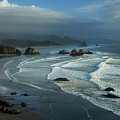 Crescent Beach And Surf by Robert Potts