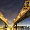 Crescent City Bridge In New Orleans by Kay Brewer