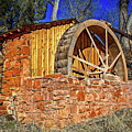 Crescent Moon Ranch Water Wheel by Jon Burch Photography