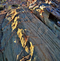 Crest Of Sandstone Wave At Sunset In Valley Of Fire by Ray Mathis