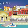 Crete Greece Horizontal Scene by Karen Young