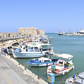 Crete Island Harbour  by Lilach Weiss