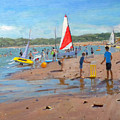 Cricket And Red And White Sail by Andrew Macara