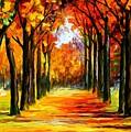 Crimson Alley by Leonid Afremov