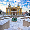 Croatian National Theater In Zagreb Winter View by Brch Photography