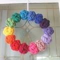 Crochet Rainbow Wreath by Samiksa Art