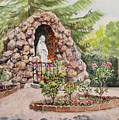Crockett California Saint Rose Of Lima Church Grotto by Irina Sztukowski