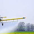 Too Close For Comfort - Crop Dusting 2 Of 2 by Charlie Brock