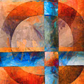 Cross And Circle Abstract by Edward Fielding