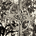 Cross At Dublin Pioneer Cemetery by Troy Montemayor