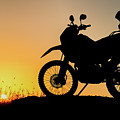 Cross-country Motorbike And Stony, Traveling In Tough Roads by Huseyin Bostanci
