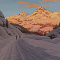 Cross Country Skiing By Ivan Fedorovich Choultse by Ivan Fedorovich Choultse